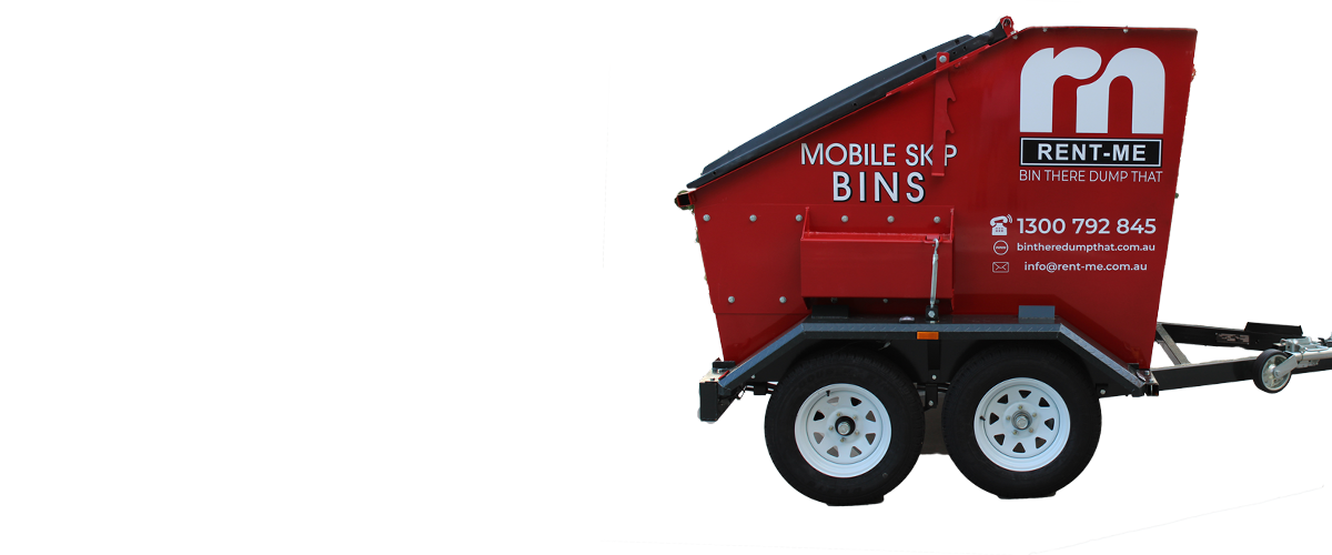 Mobile Skip Trailer side view